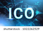 ico sign over futuristic low... | Shutterstock .eps vector #1022262529