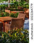 sunny outdoor terrace with... | Shutterstock . vector #1022264779