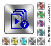 unknown playlist engraved icons ... | Shutterstock .eps vector #1022268064