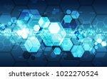 vector abstract futuristic high ... | Shutterstock .eps vector #1022270524