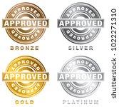 an image of a bronze silver... | Shutterstock .eps vector #1022271310