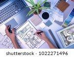 top view of creative's ... | Shutterstock . vector #1022271496