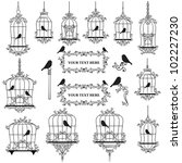 Vintage Birds And Birdcages...