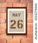 may 26th. 26 may calendar on... | Shutterstock . vector #1022274664