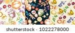 fruits seamless pattern | Shutterstock .eps vector #1022278000