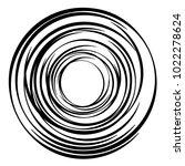 geometric radial element.... | Shutterstock .eps vector #1022278624