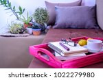 still life of living room with... | Shutterstock . vector #1022279980