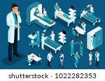 isometry medicine  doctor... | Shutterstock .eps vector #1022282353