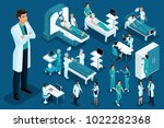 isometry of medicine  doctor ... | Shutterstock .eps vector #1022282368