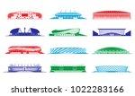 football stadiums set.  russia... | Shutterstock .eps vector #1022283166
