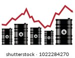 vector crude oil price... | Shutterstock .eps vector #1022284270