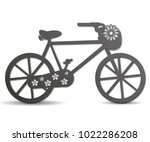 vector silhouette of a bicycle... | Shutterstock .eps vector #1022286208