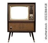vintage television   old tv... | Shutterstock . vector #1022286418