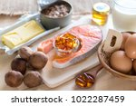 natural source of vitamin d in... | Shutterstock . vector #1022287459