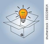 bulb light idea vector...   Shutterstock .eps vector #102228814