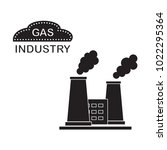 gas processing plant with... | Shutterstock .eps vector #1022295364