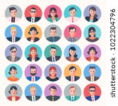 people characters circle icons... | Shutterstock .eps vector #1022304796