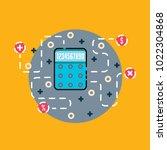 calculator icon illustration | Shutterstock .eps vector #1022304868