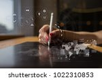 futuristic virtual screen... | Shutterstock . vector #1022310853