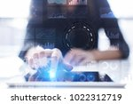 business process and strategy... | Shutterstock . vector #1022312719