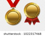 set of realistic 3d champion... | Shutterstock .eps vector #1022317468
