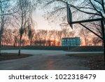 construction field near the... | Shutterstock . vector #1022318479