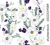 floral seamless pattern... | Shutterstock .eps vector #1022319589
