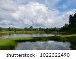 reflection of cloud  reflection ...   Shutterstock . vector #1022322490