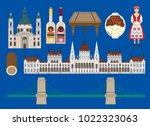 hungary illustration  veotor ... | Shutterstock .eps vector #1022323063