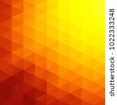 orange grid mosaic background ... | Shutterstock .eps vector #1022333248