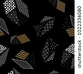 japanese pattern vector. gold... | Shutterstock .eps vector #1022336080