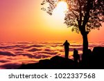 a view of a cloud inversion... | Shutterstock . vector #1022337568