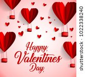 happy valentines day typography ... | Shutterstock .eps vector #1022338240
