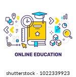 vector creative illustration of ... | Shutterstock .eps vector #1022339923
