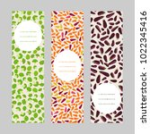 vegetarian banner set. vertical ... | Shutterstock .eps vector #1022345416