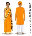 set of standing together indian ... | Shutterstock .eps vector #1022345488