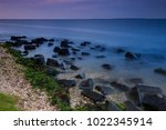 beautiful sunset on the... | Shutterstock . vector #1022345914
