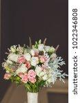 beautiful wedding bouquet on... | Shutterstock . vector #1022346808