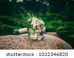 close up of wedding bouquet of... | Shutterstock . vector #1022346820