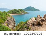 cliffs by the sea ahead is the...   Shutterstock . vector #1022347108