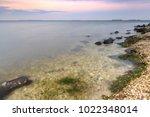 beautiful sunset on the... | Shutterstock . vector #1022348014