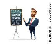 successful beard businessman... | Shutterstock .eps vector #1022349193