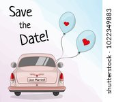 save the date template with... | Shutterstock .eps vector #1022349883