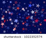 usa patriot day background with ... | Shutterstock .eps vector #1022352574