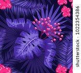 uv ultra violet luminous neon... | Shutterstock .eps vector #1022354386