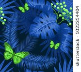 uv ultra violet luminous neon... | Shutterstock .eps vector #1022354404