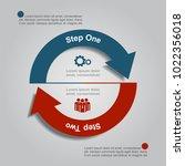 infographic template. vector... | Shutterstock .eps vector #1022356018
