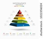 infographic template. vector... | Shutterstock .eps vector #1022356024