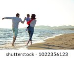 portrait of happy family and...   Shutterstock . vector #1022356123