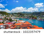 view of saint george's town ... | Shutterstock . vector #1022357479